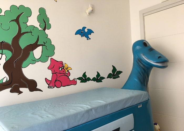 Sala de coleta infantil